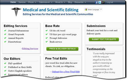 Medical and Scientific Editing